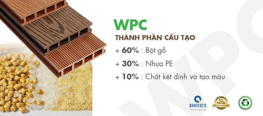 cấu tạo gỗ nhựa wpc
